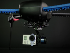 Close-up of copter body and camera gimble.