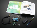 Sylvia Super Awesome Project Book Add-On Pack contents with Genuine Arduino with various parts