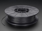 Spool of SemiFlex Filament for 3D Printers - midnight black color with 1.75mm Diameter.