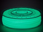 Shot of filament in spool glowing in the dark.