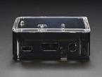 Assembled Adafruit Raspberry Pi A+ Case featuring microUSB, HDMI, and headphone jack ports.