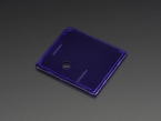 Angled shot of purple lid for Raspberry Pi Model A+ Case.