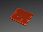 Angled shot of orange lid for Raspberry Pi Model A+ Case.