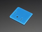 Angled shot of blue lid for Raspberry Pi Model A+ Case.