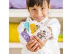 Child holding up movie tickets