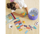 Child assembling kit on floor