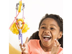 Child playing with zip line figurine