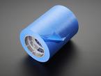 Detail of peeling Super wide Blue Masking Tape