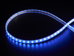 LED strip with all LEDs lit blue