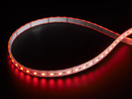 LED strip with all LEDs lit red