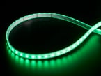 LED strip with all LEDs lit green