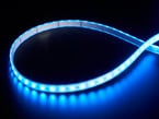 LED strip with all LEDs lit blue