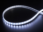 LED strip with all LEDs lit cool white