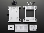 Assembly pieces and hardware for SmartiPi LEGO-compatible Raspberry Pi case.