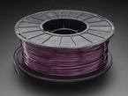 Spool of PLA filament for 3D printers - Purple Translucent color with 1.75mm Diameter.