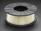 Spool of PLA filament for 3D printers - natural translucent color with 1.75mm Diameter.