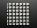 Top view of powered off Flexible 16x16 NeoPixel RGB LED Matrix.