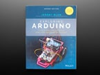 """Front cover of """"Exploring Arduino: Tools and Techniques for Engineering Wizardry"""" 2nd Edition by Jeremy Blum. cover features a red robot chassis with breadboard, microcontroller, and jumper wires."""