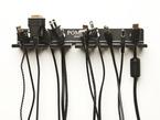 Black Pomona Test Lead Holder with nine different kinds of black cables.