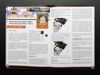 Opened magazine page covering GPIO sensing with 1-wire temperature sensors.