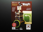Front cover of The MagPi - Issue 28 Nov 2014, a magazine for Raspberry pi users. Introducing OpenCV. Get printed copies at themagpi.com. FUZE BASIC, VoIP server, Arduberry, Using Git, BitScope. Portrait of a two-wheeled robot buddy.