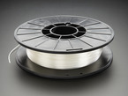 Spool of SemiFlex Filament for 3D Printers - semi translucent white color with 1.75mm Diameter.