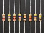 Through-Hole Resistors - 100 ohm-100K ohm - 5% 1/4W - Packs of 25