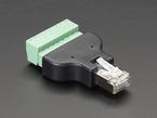 Ethernet RJ-45 Male Plug Terminal Block
