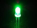 Single LED lit up bright green