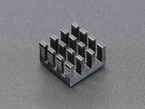 Square aluminum heat sink with 16 fins
