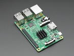 Raspberry Pi computer with heat sink on main chip