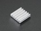 Square aluminum heat sink with 6 fins