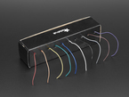 Hook-up Wire Spool Set in box with 10 colorful wires coming out