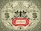 """Stylized graphic with US dollar signs and """"Adafruit Gift Certificate"""" in filigree font."""