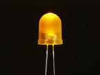 Single large LED lit up yellow