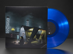 """album cover of Infinity Shred - """"Long Distance Adafruit Edition"""" with translucent blue record disc half-pulled out."""