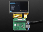 4.3 inch LCD Capacitive Touchscreen Display Cap showing linux desktop