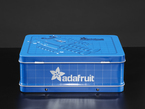 Bottom of lunch box showing Adafruit Logo