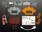 Pimoroni Scroll Bot - Pi Zero WH Project Kit contents