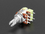 Panel Mount 10K Dual Log Potentiometer with On-Off Switch.