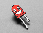Ruby the Red LED Limited Edition Enamel Pin