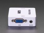 Close up of VGA and audio ports