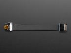 Right Angle (L bend) Mini HDMI Plug connected to flex cable