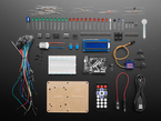 Kit contents shot with dozens of parts laid out