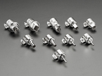 Array of 10 metal hot air wand tips, with various sizes and shapes