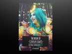 Front cover of The Book of Cosplay Lights - Getting Started with LEDs - by Svetlana Quindt @KamuiCosplay. A World of Warcraft cosplayer wearing a teal wig and costume orbs with LEDs.