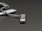 Close shot of the USB Type C adapter extension.