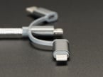 Close shot of the USB Lightning adapter extension.