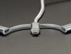 Close shot of the USB Micro B connector end.