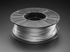 Spool of PLA filament for 3D printers - silver color with 2.85mm Diameter.